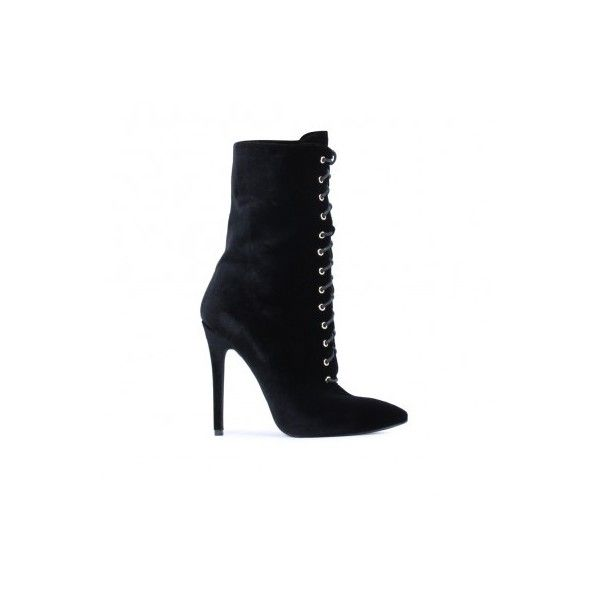 Women's Lace Up Ankle Boots | Public Desire ($58) ❤ liked on Polyvore featuring shoes, boots, ankle booties, lace up booties, laced ankle boots, short boots, front lace up boots and lace up ankle booties