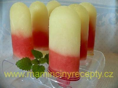 Dvoubarevné melounové nanuky