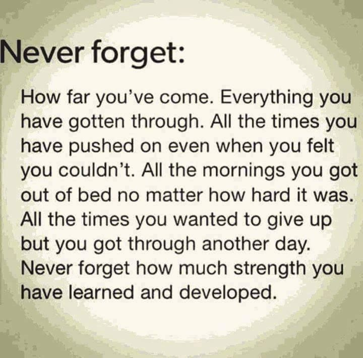 Wow very touching and what everyone should remember, the struggle is real but the rewards once your past it are amazing!
