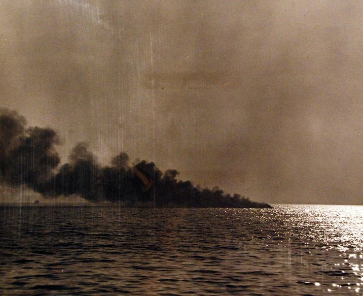 Last flight of Charles E. Richburg, test pilot of ill-fated Sea Dart, YF2Y-1, at San Diego, California. Shown: Only smoke remains are visible after plane crashed into bay. This shot was taken seconds after a flaming mass of wreckage went into the water, November 4, 1954. U.S. Navy Photograph, now in the collections of the National Archives.