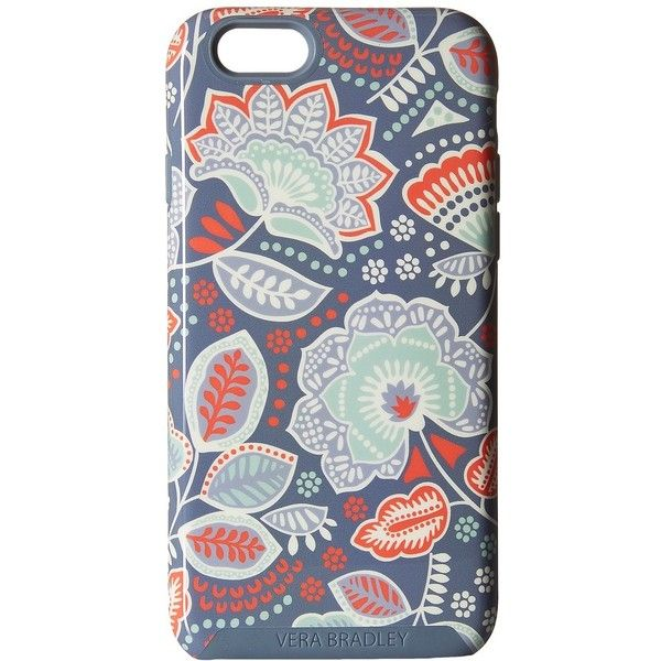 Vera Bradley Hybrid Case for iPhone 6/6s (Nomadic Floral) Cell Phone... ($38) ❤ liked on Polyvore featuring accessories, tech accessories and vera bradley