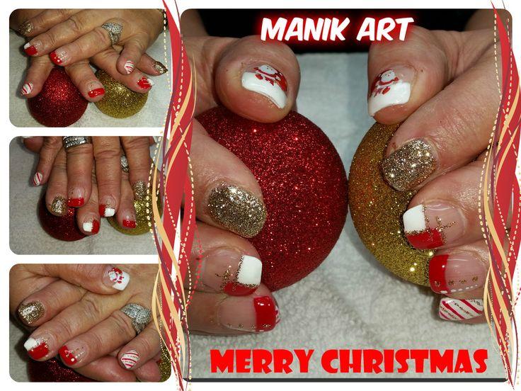 #ongles #noel #nails #nailart #original #christmas #red #white #design #rouge #blanc