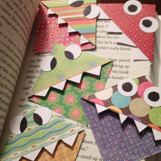 Monster book marks :) love my new reading buddies