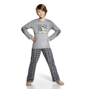 De Cornette Captain kinderpyjama van Corazonkids grijs met geruite broek. De Cornette kinderpyjama van CorazonKids met een geruite broek is erg mooi en hip.. Het shirt heeft een leuke opdruk. De Cornette kinderpyjama van CorazonKids is van goede kwaliteit.