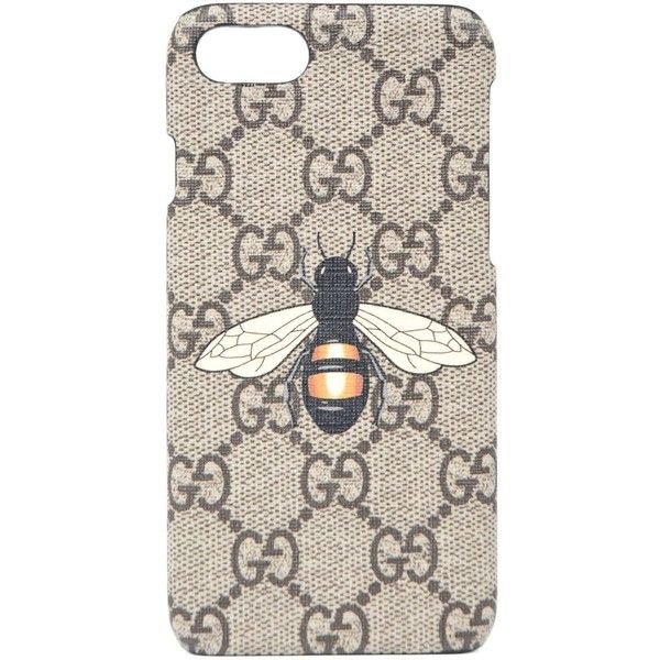 Bee Print Iphone 7 Case ($150) ❤ liked on Polyvore featuring men's fashion, men's accessories, men's tech accessories, menaccessories and gucci