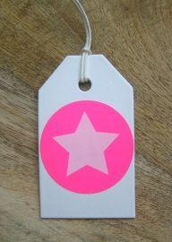 531 Etiketten Big Star - Neonroze