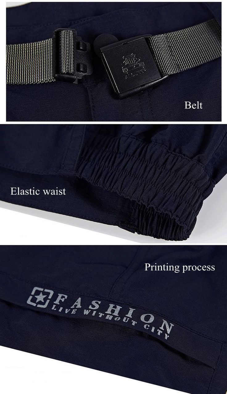 NIANJEEP Men's Leisure Outdoor Quick Drying Breathable Stretch Shorts Big Pockets Casual Trousers