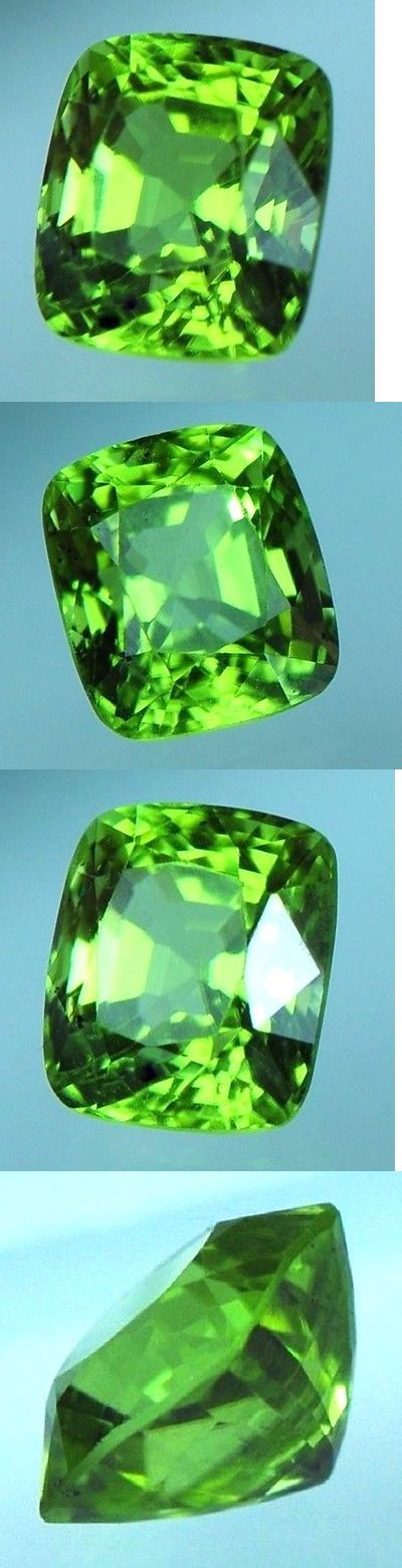 Peridot 10247: *Agl Cert* 3.59 Ct Apple-Green Mogok (Burma) Peridot Cushion -> BUY IT NOW ONLY: $678 on eBay!