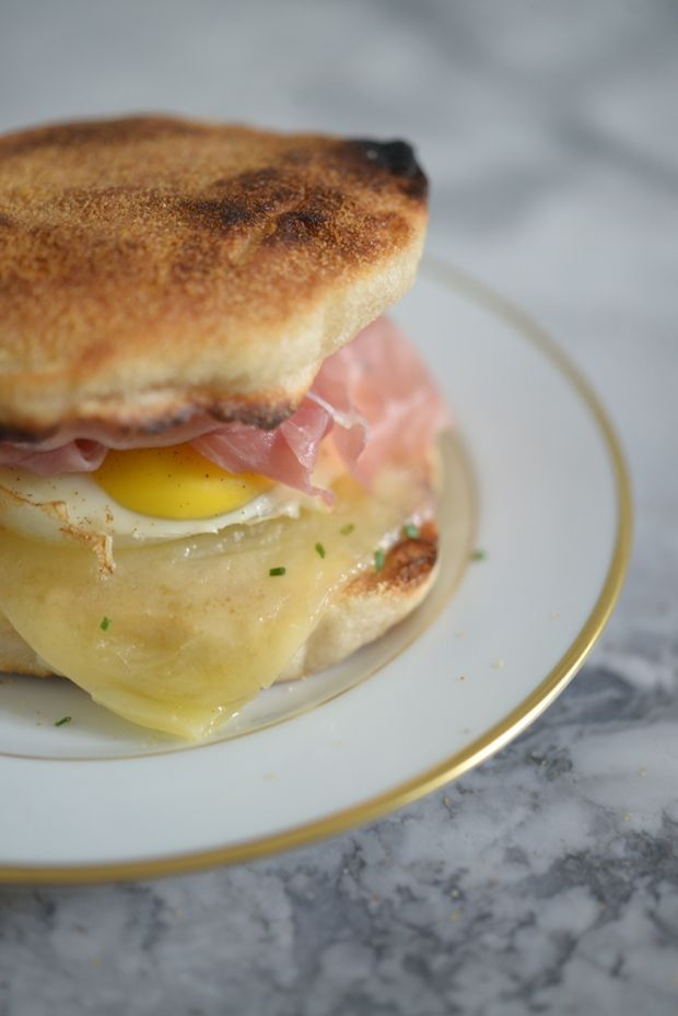 Elevated egg mcmuffin