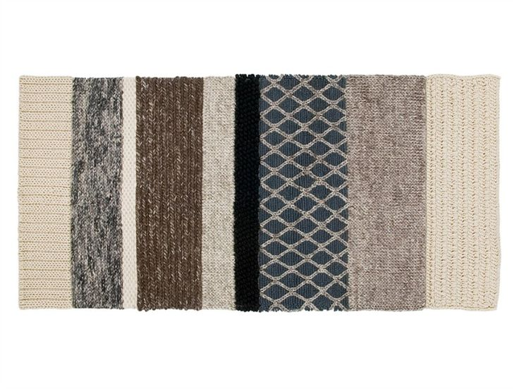 Alfombra a rayas rectangular de lana RECTANGULAR MR3 - GAN By Gandia Blasco