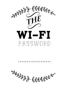 Wifi Password Guest Room