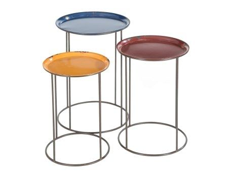 Nest Of Vintage Metal Tables 154 Artisanti