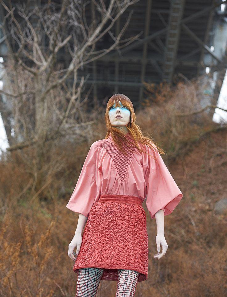 Briley Jones, Dasha zlato a Liza ostanina podle Zee Nunes k módě brazílie března 2016 | Vizuální optimismus; módní úvodníky, přehlídky, kampaně a další!