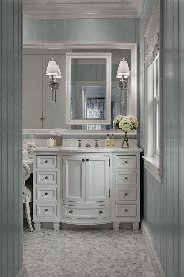 13 Dreamy Bathroom Lighting Ideas Traditional Bathroom Grey