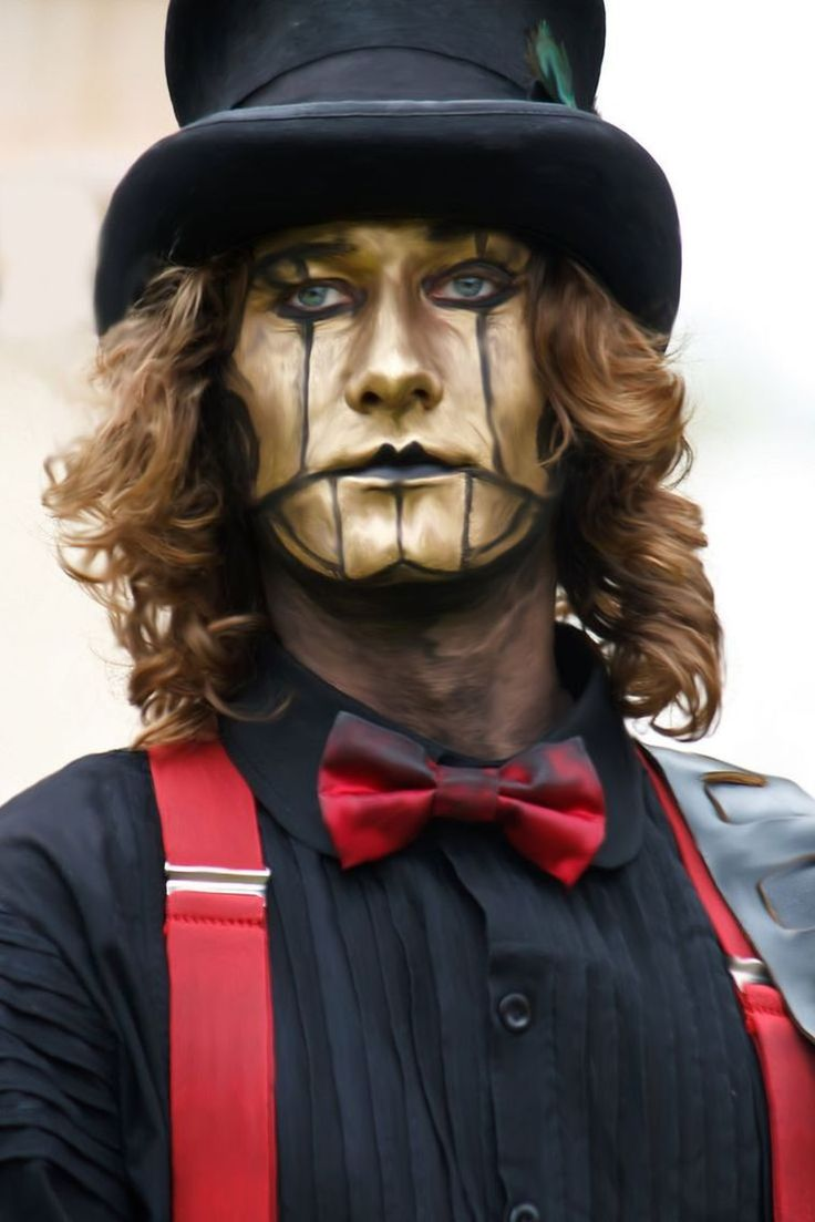 maquillage steampunk pour homme - idée Halloween simple
