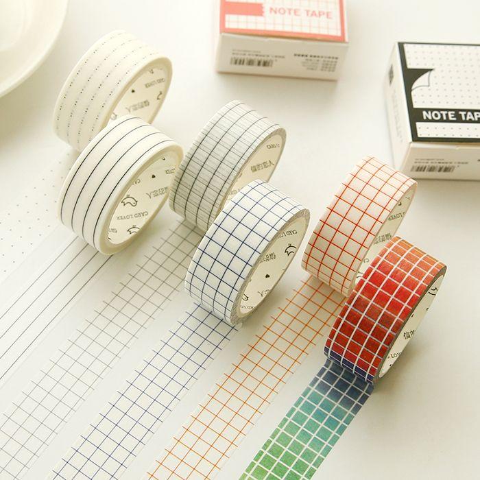NEW 1X/Lot Pattern for choice stripes/grid Print Scrapebooking DIY Sticker Decorative Masking Washi Tape Paper Japanese 7m