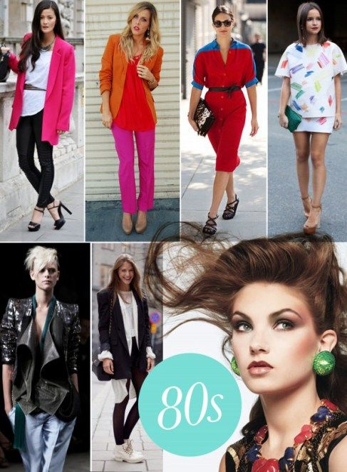 Modern styling for vintage 80s fashion