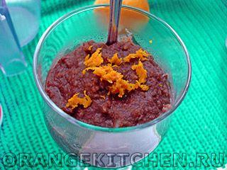 Шоколадный рисовый пудинг (веганский)
