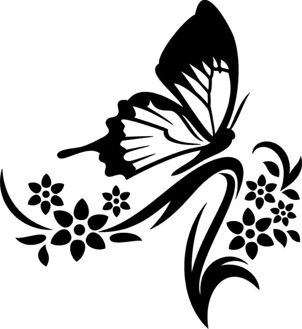 Line Art Flower Sticker Design : Best silhouettes butterfly images on