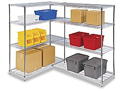 Chrome Wire Shelving, Chrome Wire Storage in Stock - ULINE   http://www.uline.com/BL_3878/Chrome-Wire-Shelving