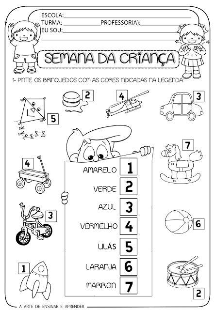 A Arte de Ensinar e Aprender: atividades dia das crianças