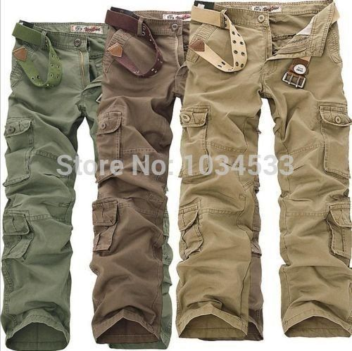 2016 New Style New Mens Big Size Casual  Pants Military Army Cargo Camo Combat Work Trousers