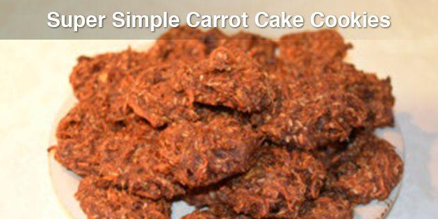 Super Simple Carrot Cake Cookies