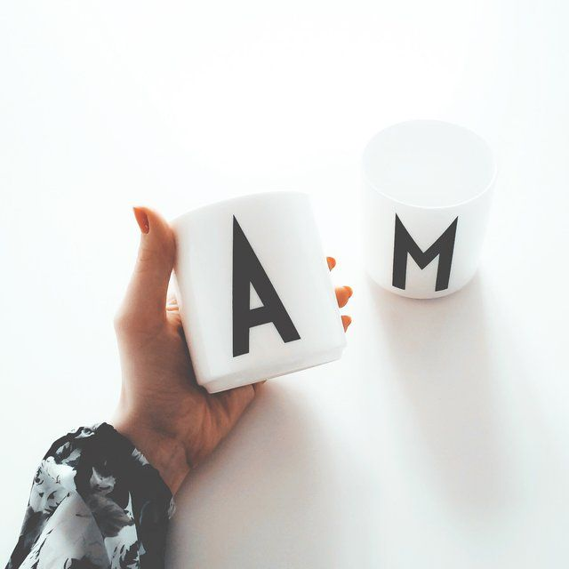Letter Mugs by Arne Jacobsen Published by Maan Ali