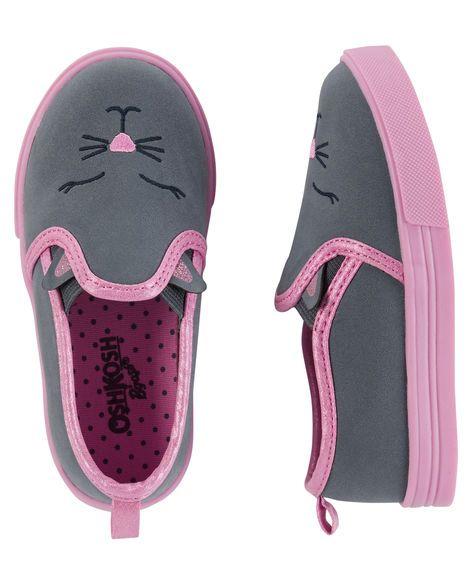 OshKosh Kitty Slip-On Loafers