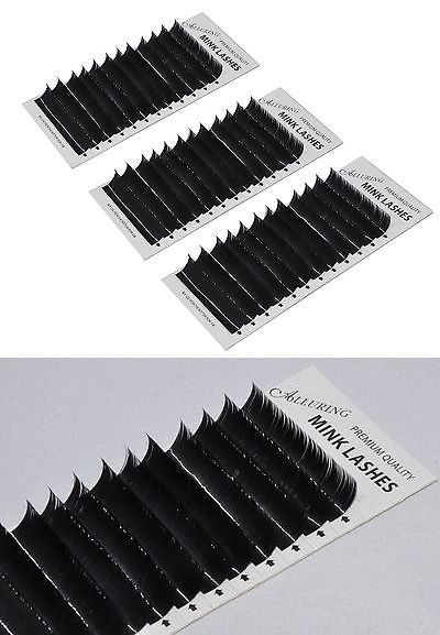 Eyelash Tools: Combo Lot Premium Mink C Curl .15Mm X 9 To 15 Mm Eyelash Extension Lashes -> BUY IT NOW ONLY: $31.39 on eBay!