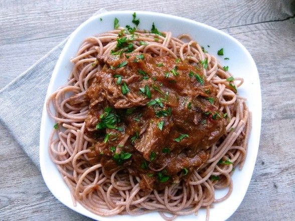 pasta with shredded grass-fed beef brisket | Favorite Recipes ...