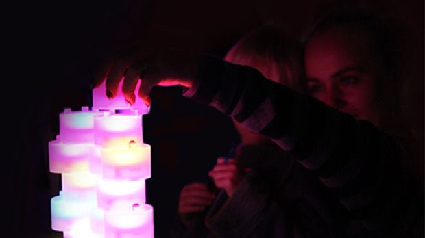 Tangeez Tangible Lights Interactive, color-changing building blocks that let you play with light, by New York's Next Top Makers finalists
