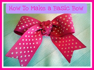 .: How To Make a Basic Hair Bow Free tutorial