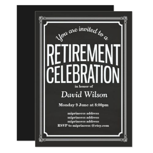 teacher retirement invitation