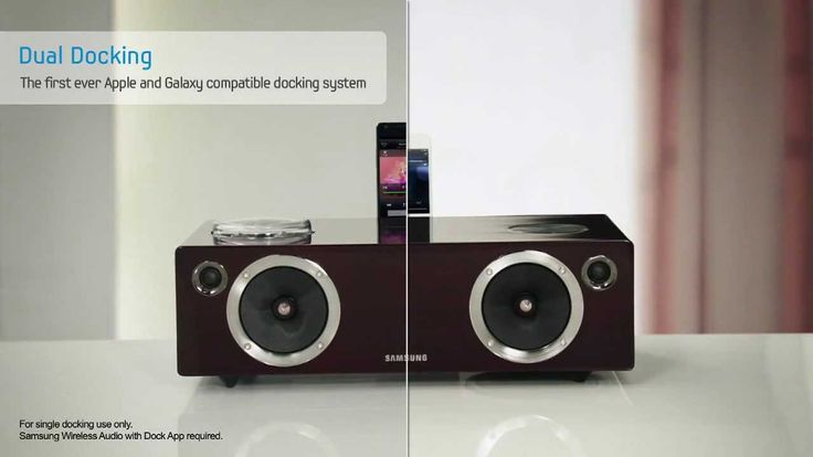 Bocinas portátiles con Dock escondido, conectividad Bluetooth, compatible con Galaxy S2/S3/Note y iPod/iPhone.