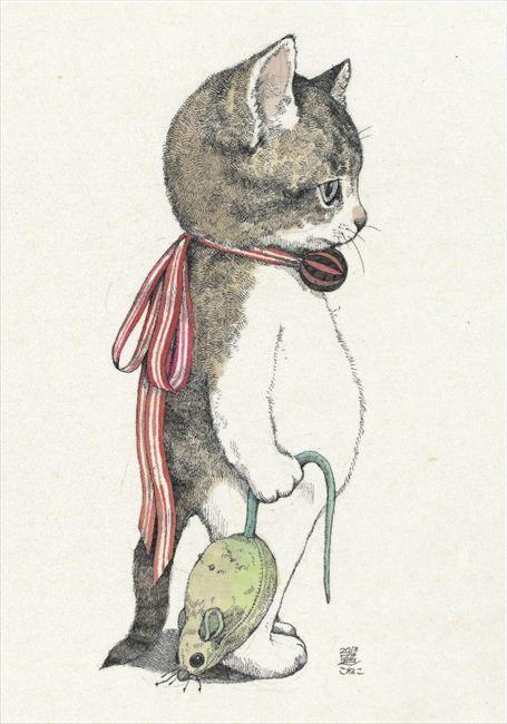 「ヒグチユウコ ポストカード」 by Yuko Higuchi #cat #art