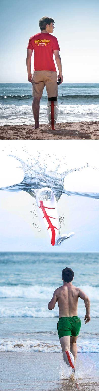 Murr-ma - amphibious prosthesis concept by Julia Johnson, Thomas Essl, Yuki Machida & Damien Rocca