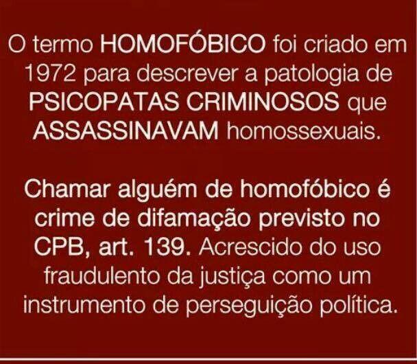Não gosto de homossexualidade.