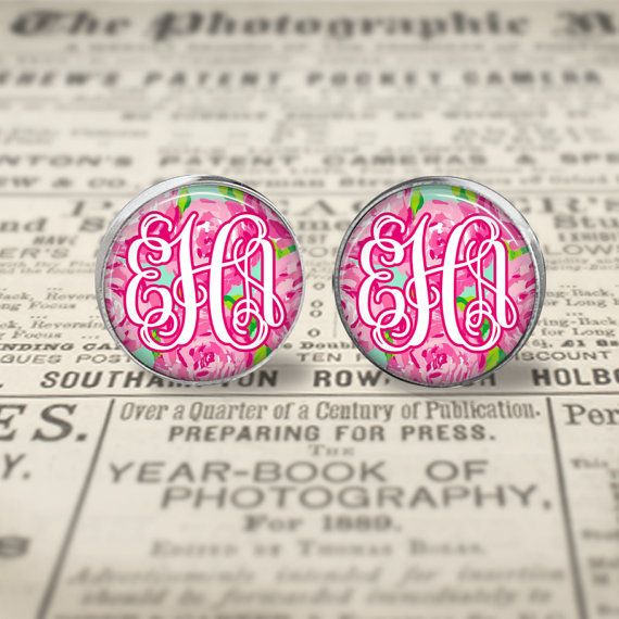 I would prefer these earrings as monogrammed, covered buttons.