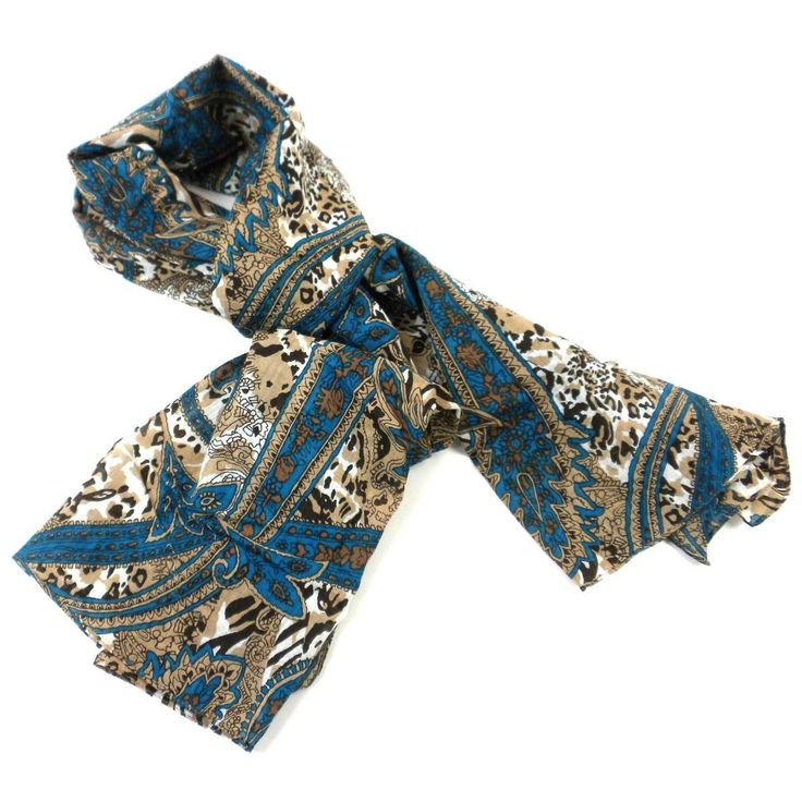 Paisley Cotton Scarf - Asha Handicrafts