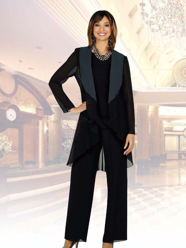 Mother Of The Bride Groom Pant Suits 2015 With Jewel Neck Long Sleeves Jacket For Mothers Formal Occasion Party Evening Dresses Three Pieces