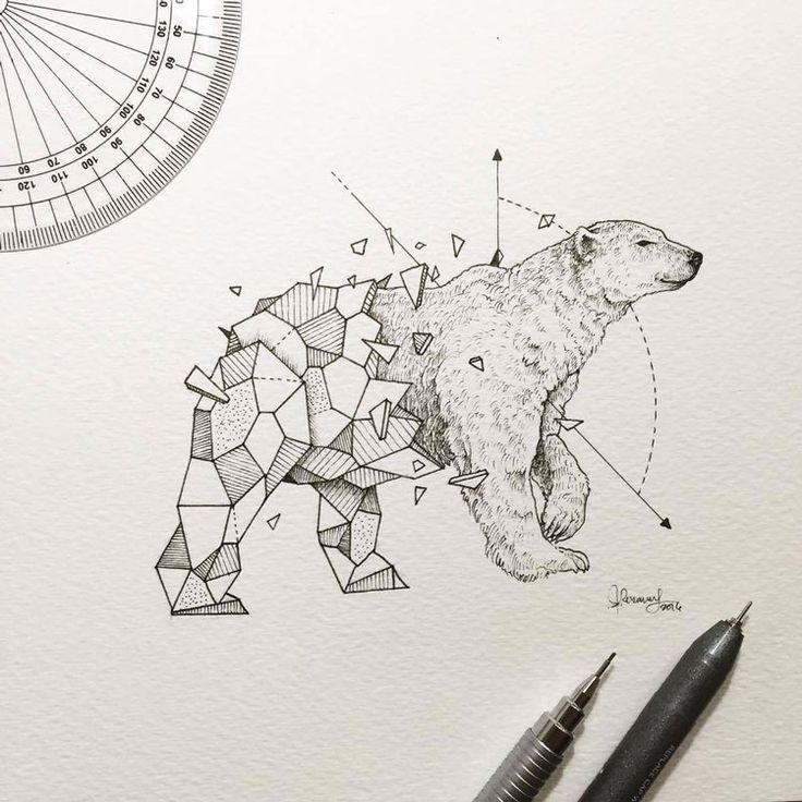 Kerby Rosanes est un superbe illustrateur de talent basé à Manille, capitale des Philippines.  Ce qu'il aime par dessus tout dans l'illustration c'est la sensation de ses crayons sur une feuille de papier.  Il vient tout juste de terminer une nouvelle série d'illustrations qu'il a baptisé Geometric Beasts, il s'agit d'animaux avec un corps à moitié composé de polygones. L'idée est superbe et ça fonctionne vraiment très très bien.