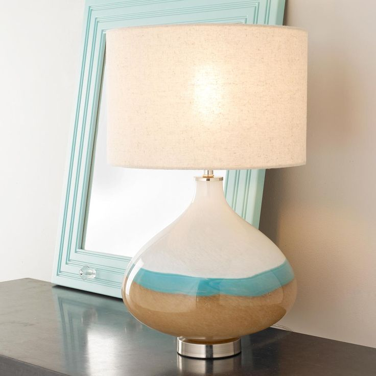 Seaside Ceramic Table Lamp Earth, Sky And Ocean Colors Merge In This  Bucolic Glass Lamp