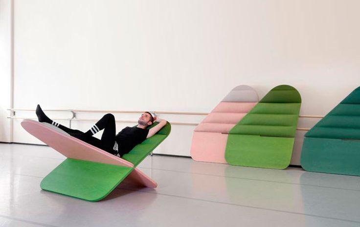 Дизайнер Асаф Исраэль придумал мечтательное кресло, на котором удобно расслабляться после тренировок, серфить в интернете и думать о хорошем.
