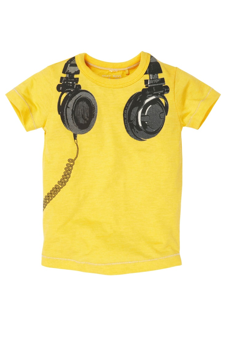 Buy yellow headphones t shirt 3mths 6yrs from the next for Yellow t shirt for kids