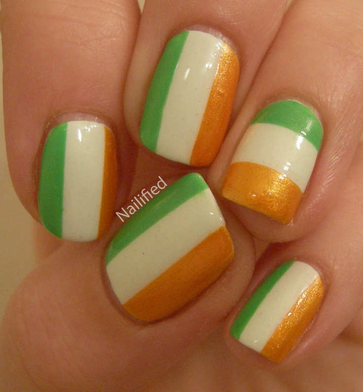 Nailified: Take Two Day 2: Flag Nails - Best 25+ Irish Nails Ideas On Pinterest St Patricks Day Nails
