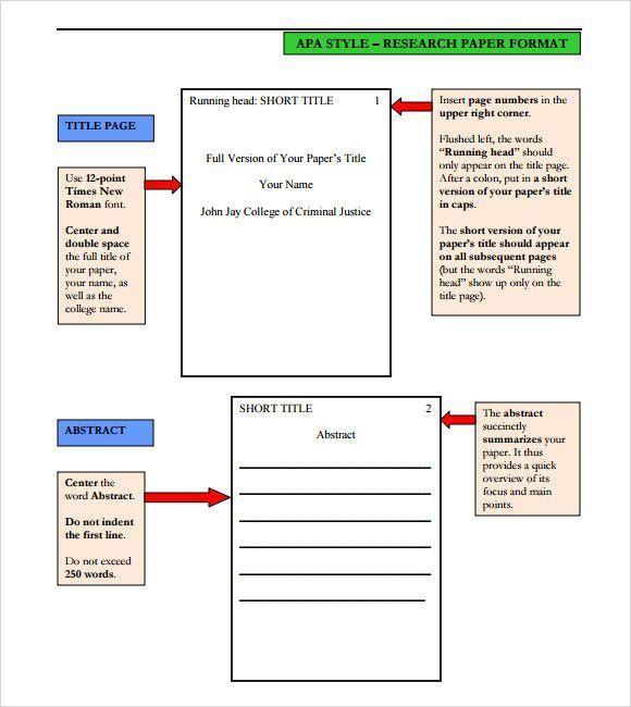 Apa Format Paper Template Stunning Sample Apa Format Template 6