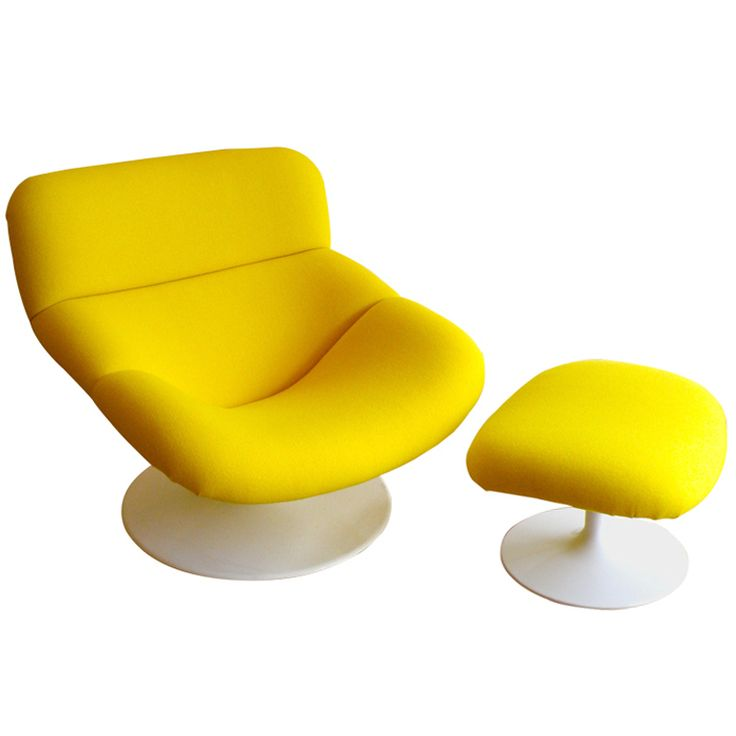 'F518' Chair & Footstool by Geoffrey Harcourt