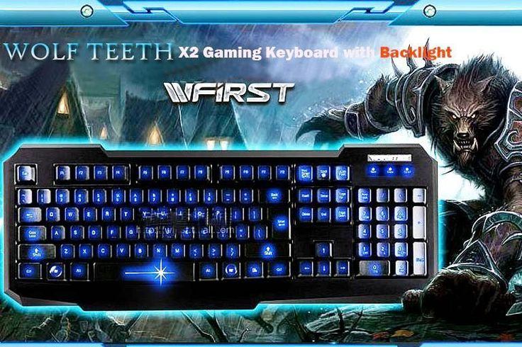 Wired LED Gaming Keyboard with Backlight  WFIRST X2 USB for Computer and Laptop #WFIRST