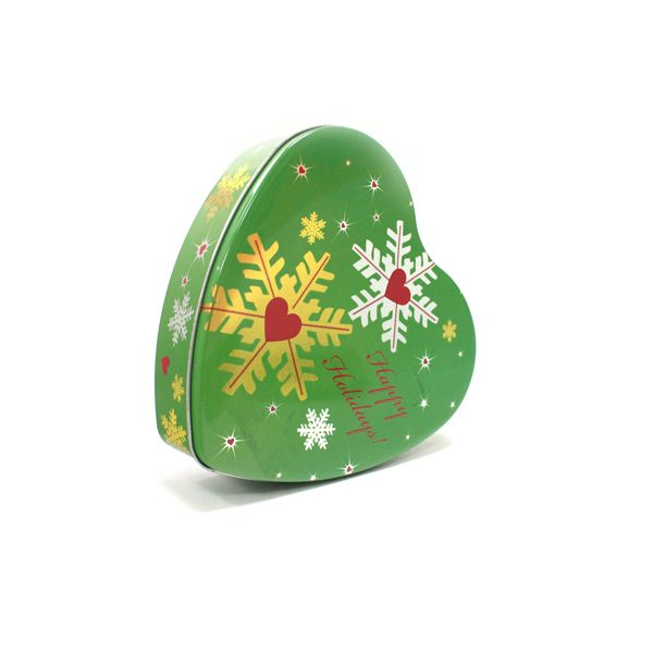 This metal heart-shaped gift tin cans looks cool and feels cool. Heart shape allows this tin to look more romantic. Delicate custom printing can highly promotion your sales and enhance your brand.